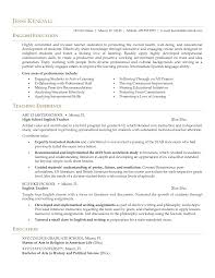 Confortable Resume Examples For Teaching English For Sample Resume