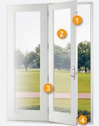 design features hinged patio door with screen42 screen