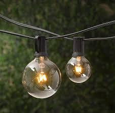 restoration hardware large globe indoor outdoor light strings 35 for 10 lights on a