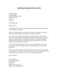 Teacher Assistant Cover Letter Educational Assistant Cover Letter