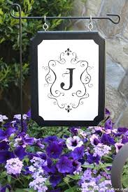 monogrammed outdoor plaque monogram flag house flags sign