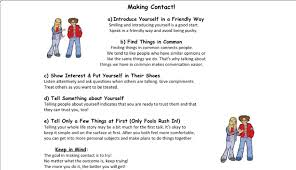 List Of Steps How To Appropriately Make Contact With Others