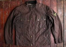 belstaff gold label brown waxed cotton motorcycle jacket made in italy 42 belstaff jackets belstaff mens