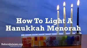 Prayer For Lighting The Menorah Candles Hanukkah Blessings Reformjudaism Org