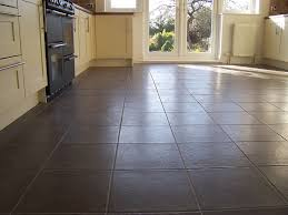 Good Kitchen Flooring Good Accessories And Furniture Chocolate Brown Patterned Floor