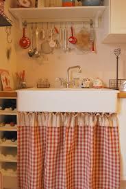 image vintage kitchen craft ideas. Little Emma English Home: Sink Skirt (plaid+strip). Red KitchenKitchen SinksVintage IdeasKitchen Image Vintage Kitchen Craft Ideas G