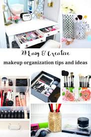 20 easy makeup organization ideas