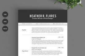 2 Page Resumes New 48 Pages Resume Set CV Template Resume Templates Creative Market
