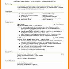 Resume Template For Teachers Afterelevenblog Com