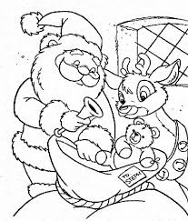 Small Picture Santa Claus and Rudolph Picking Christmas Present for Kids