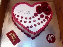 Happy 4th Anniversary Cake Birthday Cake Heavens Cakes