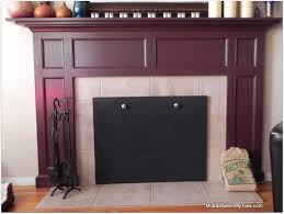 fine decoration magnetic fireplace cover
