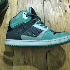 dc shoes high tops green and black. dc shoes - mint green high top dc tops and black t