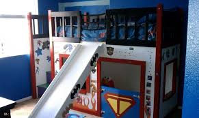 bunk bed with slide and desk. Image Of: Bunk-Bed-Slide-Desk Bunk Bed With Slide And Desk