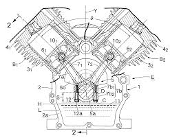 patent us6178932 v type engine google patents patent drawing