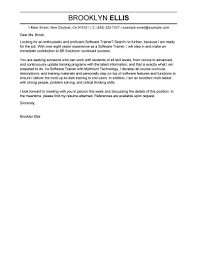 Cover Letter It Professional Best Software Training Cover Letter Examples Livecareer