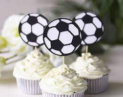Soccer Ball Icing Decorations Soccer cupcake Etsy 71