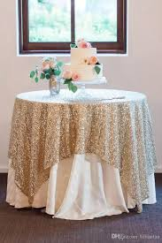 2017 bling sequins round table cloth custom size evening party wedding decorations gold silver champagne glitter fabric sequined table cloth 70 round