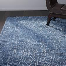 blue wool area rugs omar deep blue tufted wool area rug wfunsus