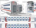 схема двухэтажного поезда ржд
