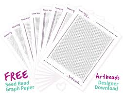 Designer Downloads Free Printable Seed Bead Graph Paper Artbeads