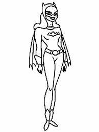 Batgirl Coloring Pages For Kids Printable Coloring Pages