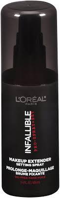 infallible pro spray set makeup extender makeup extender setting spray 3 4 fluid oz rite aid