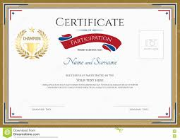 Certificate Of Participation Templates Sports Certificate Templates For Word Lovely Certificate