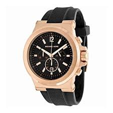 michael kors mk8184 47mm rose gold case black rubber mineral men s michael kors mk8184 47mm rose gold case black rubber mineral men s watch