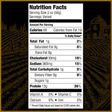 Walmart Deli Nutrition Chart Prima Della Oven Roasted Turkey Breast Deli Sliced