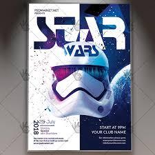 star wars template star wars club flyer psd template