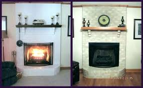 white painted brick fireplace before and after painting choosing color to grey charcoal gray bric