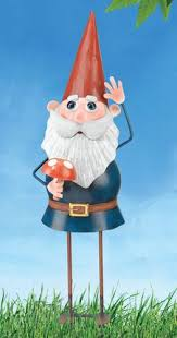 metal gnome garden stake only 23 99 at