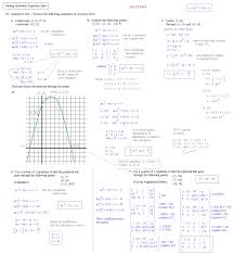 finding quadratic equations quiz 2 solutions