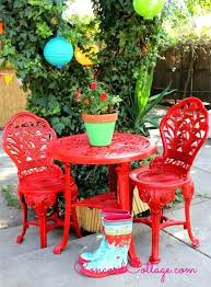 how do you paint wrought iron patio furniture