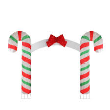 Candy Cane Lane Decorations 60' x 60' Candy Cane Lane 60D PreLit Red Green White Striped 27