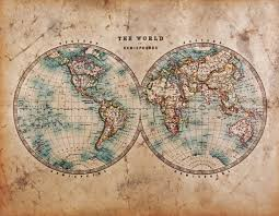 1800 vintage world map wallpaper wall mural by loveabode com and