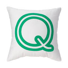 'Q' Bright Letter Throw Pillow | The Land of Nod
