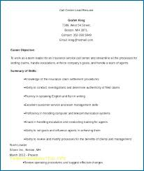 Call Center Floor Manager Sample Resume Amazing Resume Example For Call Center Kenicandlecomfortzone