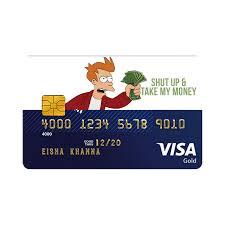 Shut Up And Take My Money Credit Card Design Shut Up Take My Money Card Sticker