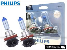 Details About New Philips H11 Crystal Vision Ultra Hid Look Bulbs 12362cvb2 55w 12v Dot 4000k