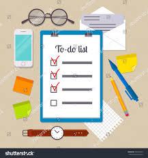 Watch Post It Notes Clipboard Todo List Template Pencil Pen Stock Vector 563390545