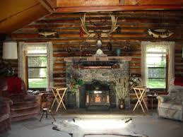 log cabin decorating ideas with wall decor and stove log cabin