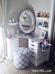 a step step process on how i built a corner makeup vanity source how to make