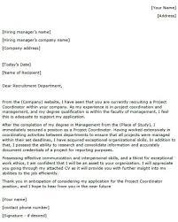 Project Coordinator Cover Letter Example Lettercv Com