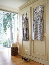 alluring design closet door ideas features cream color wooden