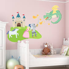 fairy tale castle printed wall decal
