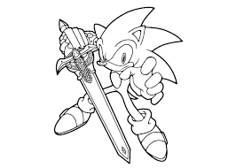 Free Sonic Coloring Pages Sonic The Hedgehog Color Pages Sonic