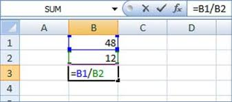 Excel Percentage Formula