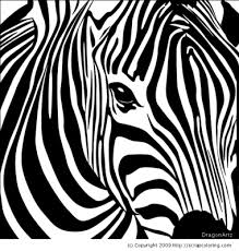 Small Picture Zebra coloring page